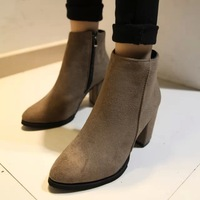 2014 autumn and winter fashion martin boots thick heel side zipper single shoes fashion female boots women's shoes boots
