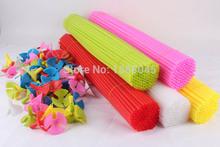 50 unids/lote 40 CM largos de látex globos palos y tazas globo plástico accesorios porta globo Sticks