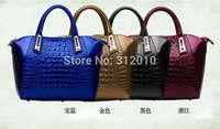 2015 new crocodile grain female bag shell package leather handbag handbag Ms joker bag large-capacity single shoulder bag