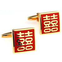Chinese Words Cufflink Cuff Link 2 Pairs Free Shipping Promotion