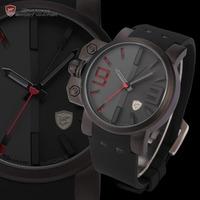 Shark Relogio Masculino Left Button 3D Logo Silicone Strap Sports Watches Brand Clock Men Wristwatches Military Watch / SH172
