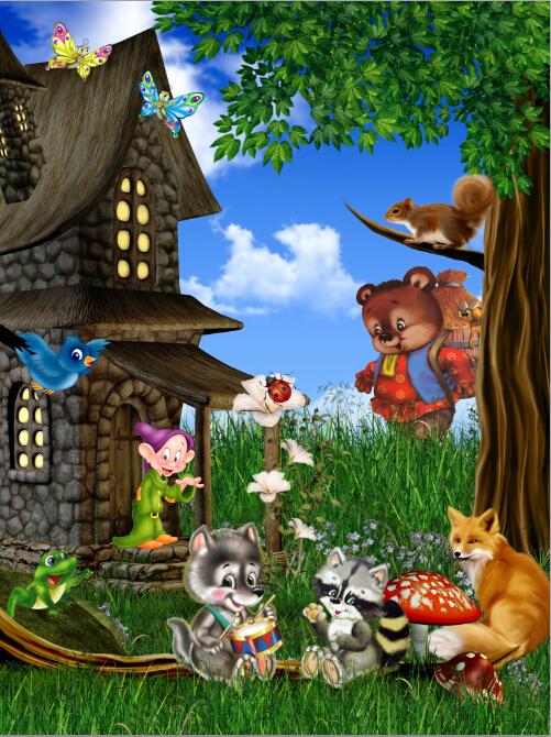 ... latar belakang, Studio 3D belakang bayi, Studio bayi hewan, Hutan LK