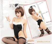 Sexy Exotic Apparel Lingerie uniform Temptation Black Cute Bunny Rabbit Bunny Dress Wholesale Dresses Generation 8134