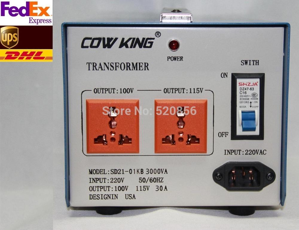 Free Shipping Voltage Converter 3000W Transformer 220V To 100V/110V Full Copper Heavy Industrial Grade Transformer Good Price(China (Mainland))