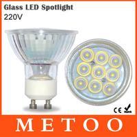 3W GU10 220V Led Spotlight SMD 2835 9Leds 120 Degree Lens Led Bulb Downlight Lighting Energy Saving Spot Light