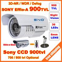 HD Security Sony Effio-E 700tvl,A 900tvl CCD 960H OSD menu 36 leds IR 30 meters outdoor surveillance CCTV Camera with bracket