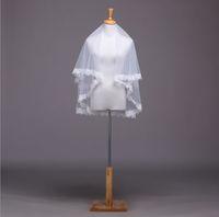 2015 New 100% Real Picture Lace Edge 1.5M Long Vintage Wedding Veil/bridal veil/bridal accessories/head veil WDTS005