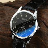 Blu ray glass male watches waterproof mens watch strap calendar student watch quartz watch