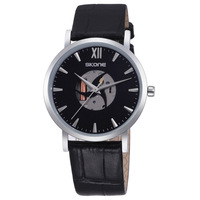 Hot Recommend! SKONE Luxury Brand Men Business Casual Watches Men Waterproof Leather  Quartz Movement Watch