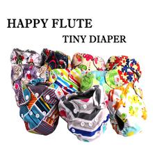 Happy Flute  10 pcs belly button newborn cloth diaper fit