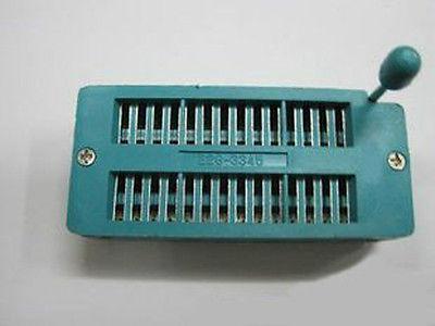 20pcs 28pin 28 Pin 2.54mm IC Test Universal ZIF Socket(China (Mainland))