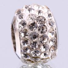 Z072 2 PCS 925 sterling silver DIY thread CZ Crystal Beads Charms fit Europe pandora Bracelets necklaces  /gcsaotza gmyapefa