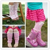 New Kids' Fashion Little Girls' Knitting Leg Warmers Crochet Lace Trim Children Leg Warmers Winter Kids Boot Socks 1 pair JT011