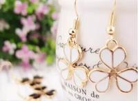 2015 New Clover love crystal stud earrings   ear clip  wholesale price