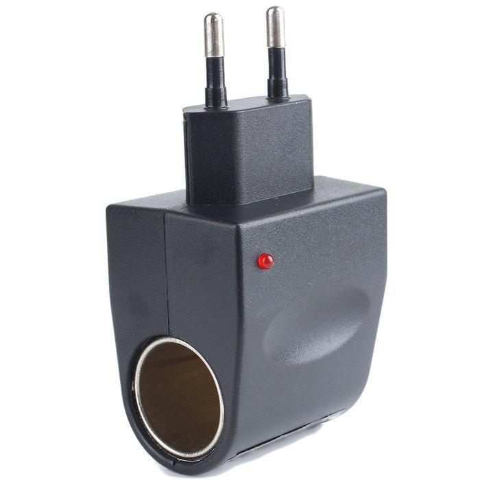DC 500mA Wall Power to Car Cigarette Lighter Adapter Converter EU Plug 220V 12V Free Shipping