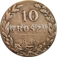Poland 1837 10 Grosz coins copy Free shipping