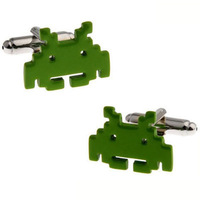 Green Cufflink Cuff Link 15 Pairs Wholesale Free Shipping