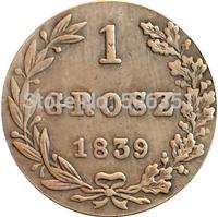 Poland 1839 1 Grosz coins copy Free shipping