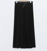 2015 New Fashion Womens Candy Color Saias Femininas High Waist Elastic saia longa Chiffon Full Long lady Maxi Skirts