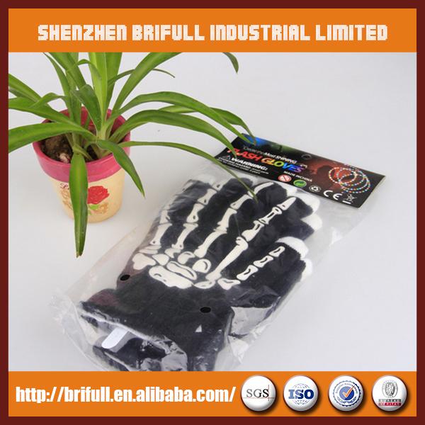 Flashing rainbow color led finger light gloves(China (Mainland))