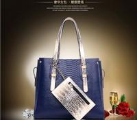 Hot sale! 2015 new fashion/ high quality brand design snake skin shoulder bag/ women messenger bag