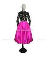 2015 Spring Woman Mori Fresh Style Little Cherry Green Leaves Floral Print Blouse Long Sleeve Top Shirt Turn-down Collar Black