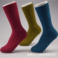 2015 Winter Thick Socks Women Long High Quality Korean Brand Jacquard cotton Candy-colored fashion warm socks In tube