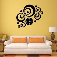 Modern Home Decor DIY 3D Mirror Sticker Round Dial Artistic Wall Clock  Free Shipping  K5BO
