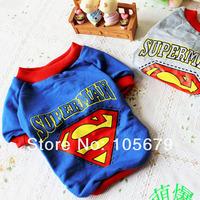 1 pc  Dog Superman Clothes T Shirt  Cat Pet Coat Factory Produce A1016