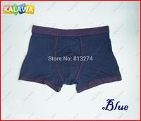 One piece Blue Color men's underpant Model cotton men's under boxer short  high quality Size L NoR Freeshipping ^^KKK