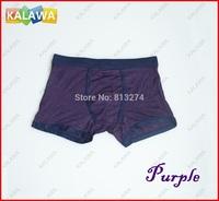 One piece Purple Color men's underpant Model cotton Size L men's under boxer short  high quality NoR Freeshipping ^^KKK