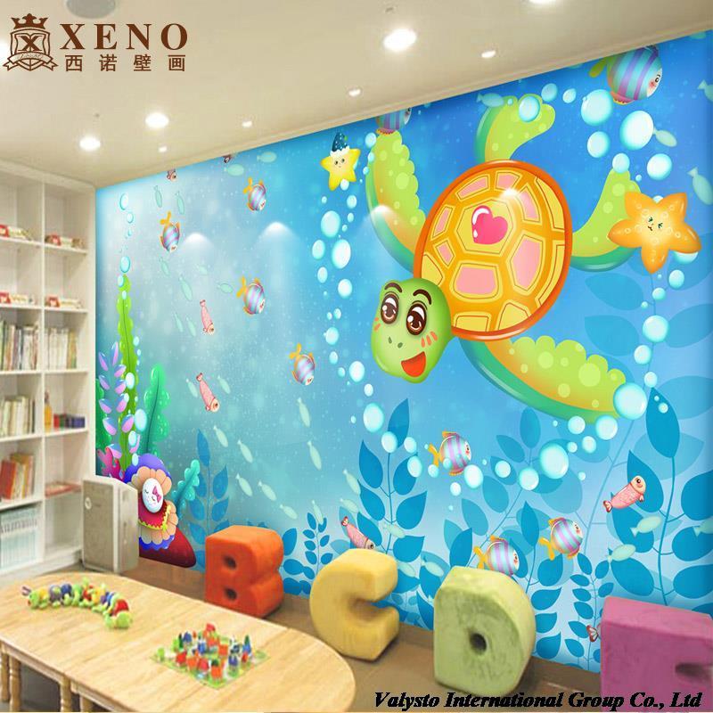 Acquista all 39 ingrosso online murales tartaruga da for Cartoon mural wallpaper