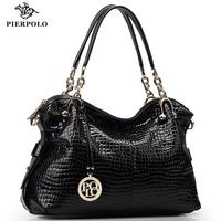 Genuine leather women's handbag 2015 for Crocodile women's handbag trend big women's cross-body shoulder bag