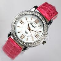 Diamond fashion ladies watch personality dial elegant vintage roman numerals women's inveted