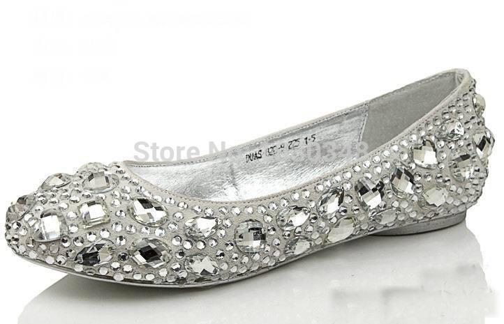 Bling Flat Wedding Shoes Bling Flats Wedding