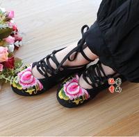 14 национальные тенденции, которую Пекин вышитые туфли Многослойная хлопок сделал обувь единственной Обувь больших размеров джинсовой ткани 792