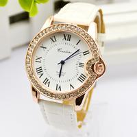 Hot-selling watch fashion vintage classic roman dial diamond women's strap quartz watch