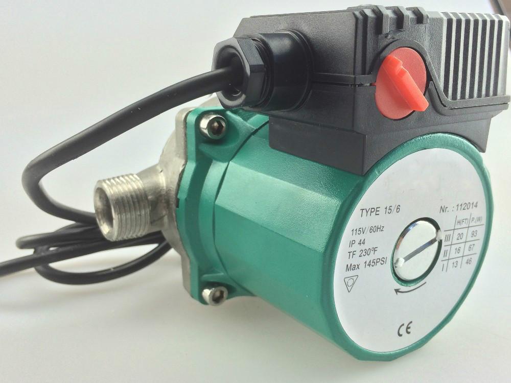 "Brand New 3/4"" 110V Hot Water Circulation Pump SS NPT Circulator Pump For Solar Heater(China (Mainland))"