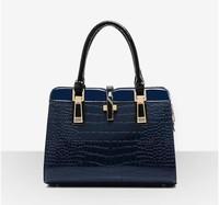 Fashion Luxury Top Crocodile Grain Patent Leather Women Handbag Ladies Hight Art Women Shoulder Bag Messenger Bag