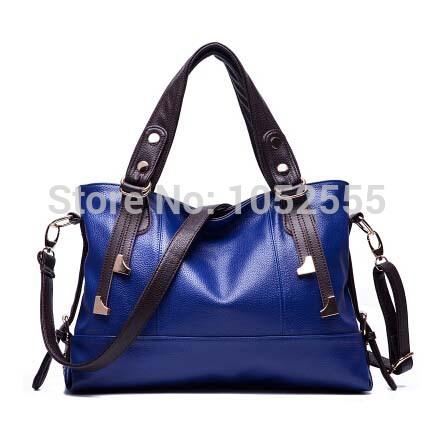 2015 European American style Women Shouder Bags Genuine Leather Hand Bags Handbags Street Shopping Women Tote Messenger Bag BG11(China (Mainland))
