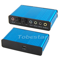 New USB 6 Channel 5.1 Optical Audio USB Sound Card External Audio Sound Card Converter CM6206 For XP Win7 PC Laptop