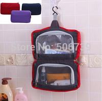 Free Shipping High Quality Travel Hanging Toiletry Bag, cosmetic bag, makeup bag, packing organizer, wash bag, 3 colors