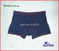One piece  high quality men's underwear boxer shorts/Modal cotton selfdom guy wear Blue Color Size XL NoR Freeshipping ^^KKK