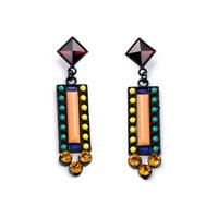 ER5221 Fashion accessories bohemia multicolour diamond pendant stud earrings for women free shipping