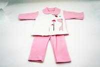 2 pieces 100% cotton animal cartoon pattern long sleeve newborn baby coat girls warm clothing set