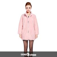2015 new arrival women natural fur coat real lamb fur double faced fur coat winter hotsell pocket mandrain collar free shipping