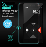 Original Daway Explosion Proof Premium Tempered Glass Screen Protector for Infocus M510 Toughened protective With Retail Box