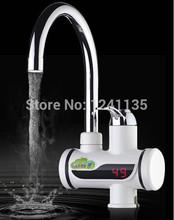 Indicador de temperatura instantânea torneira de água quente Tankless elétrica torneira da cozinha torneira de água quente instantânea aquecedor de água de aquecimento(China (Mainland))