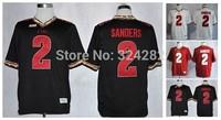 2014-15 Stitched Florida State Seminoles (FSU) 2  Deion Sanders  White/Red/Black  College Football Jersey Size : 48-56