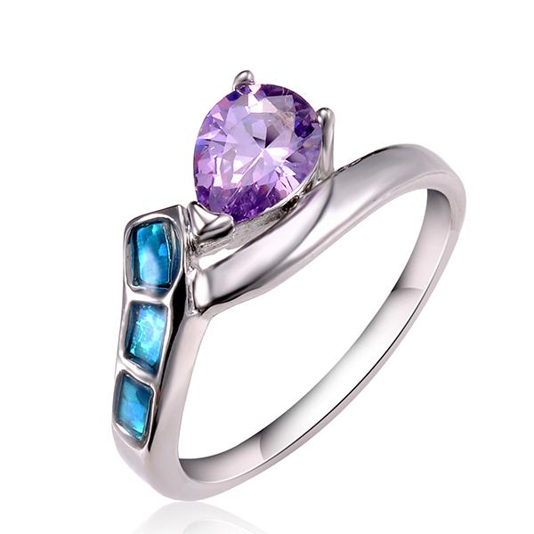 get cheap sapphire platinum engagement ring